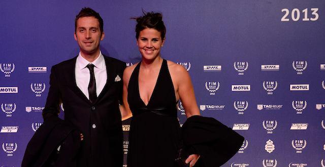 Laia Sanz en la Gala FIM 2013, Montecarlo, recogiendo el premio por su 13º título Mundial de Trial