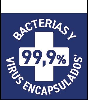 Elimina 99% Bacterias y Virus