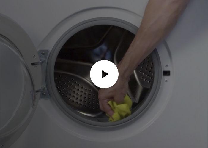 Limpieza de la goma de la lavadora