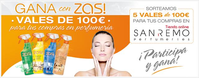 Gana 100€ en tus compras en perfumería con ZAS!