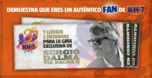 ¡Demuestra que eres un auténtico fan y llévate 2 entradas para un concierto de Sergio Dalma!