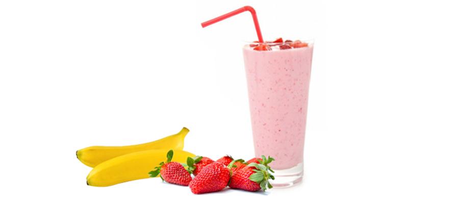 Smoothie de plátano y fresa