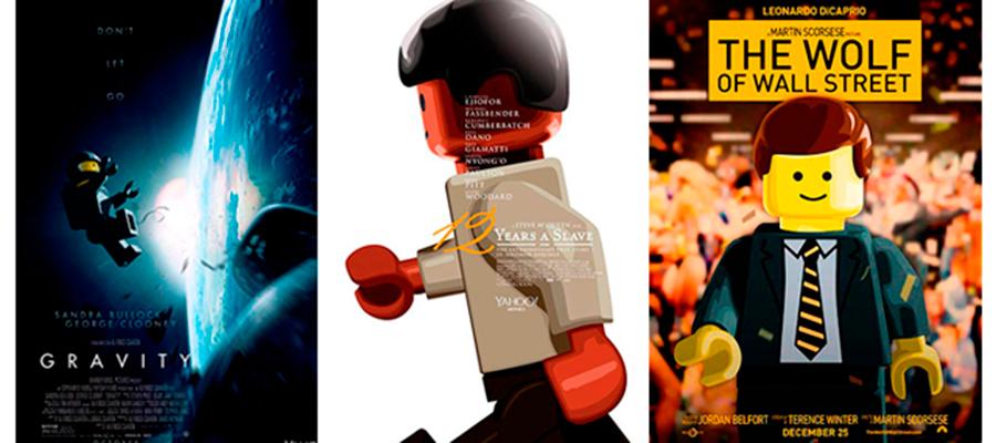 Lego recrea los carteles de las películas nominadas al Oscar