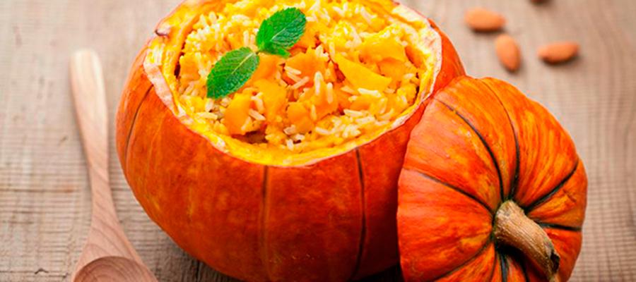 Receta Naranja: Rissotto de calabaza