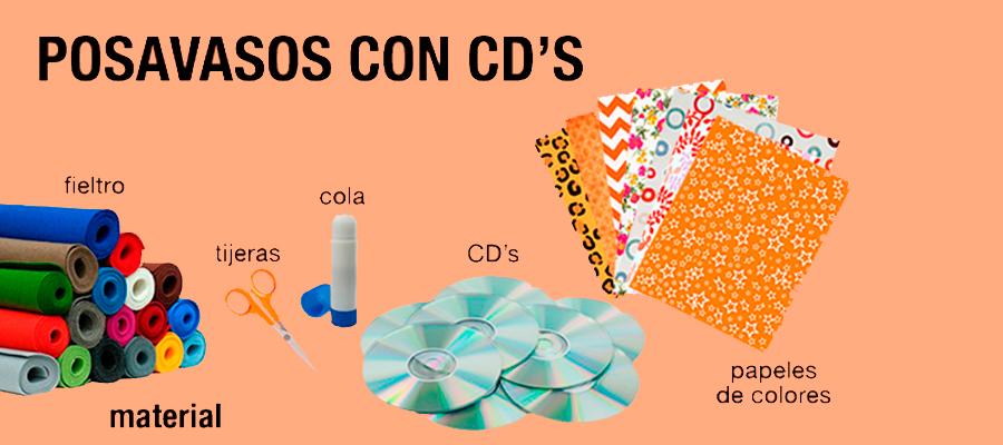 Manualidades con niños: posavasos con CD's