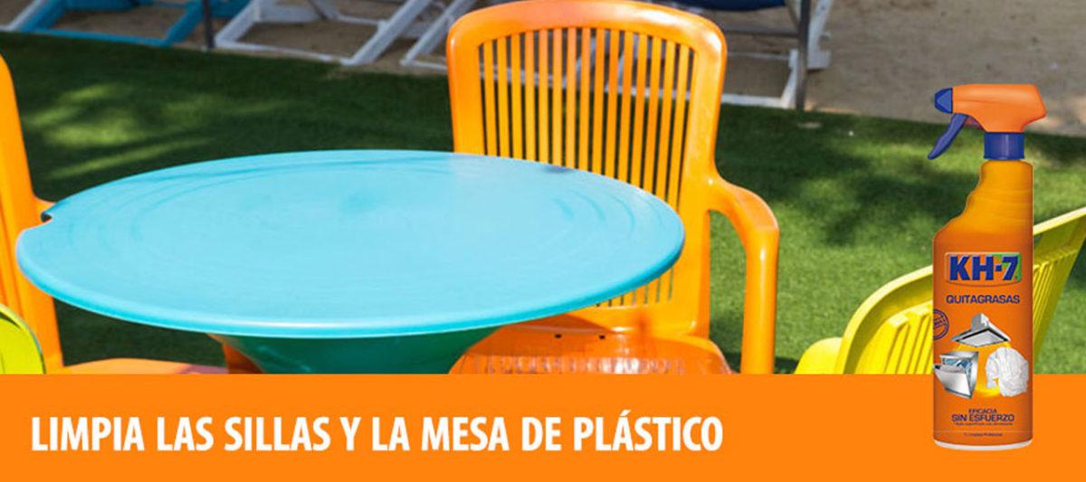 ¿Cómo limpiar sillas y mesas de plástico?