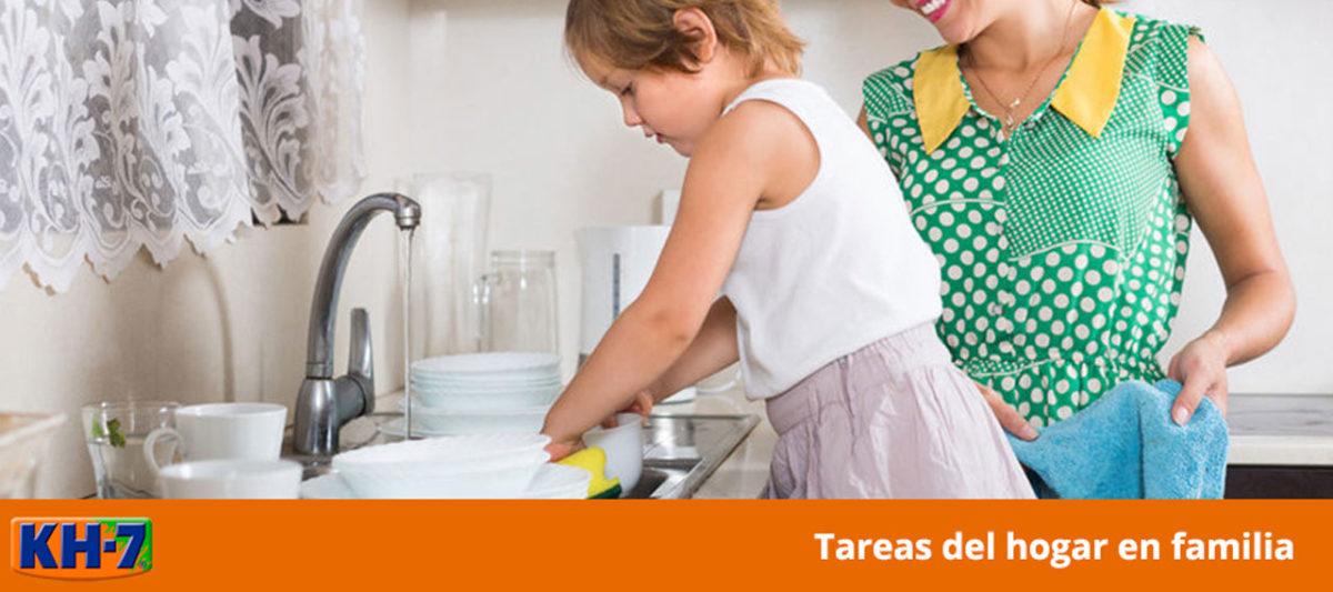Las tareas del hogar en familia pueden ser divertidas