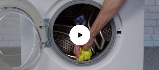 Limpieza de la goma lavadora