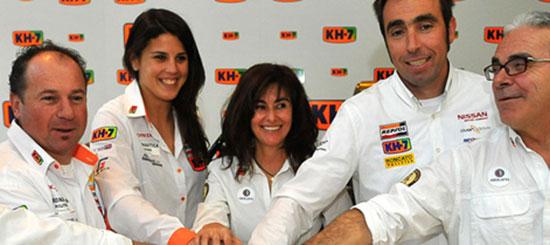 KH-7 presenta a los equipos que compiten en el Rally Dakar 2011