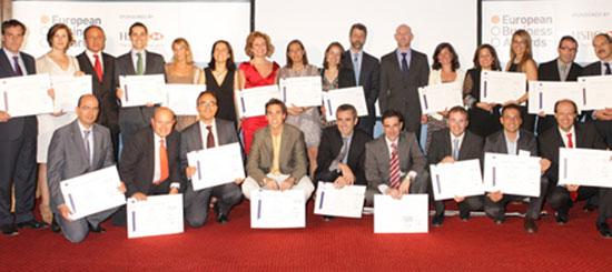 KH Lloreda con los European Business Awards